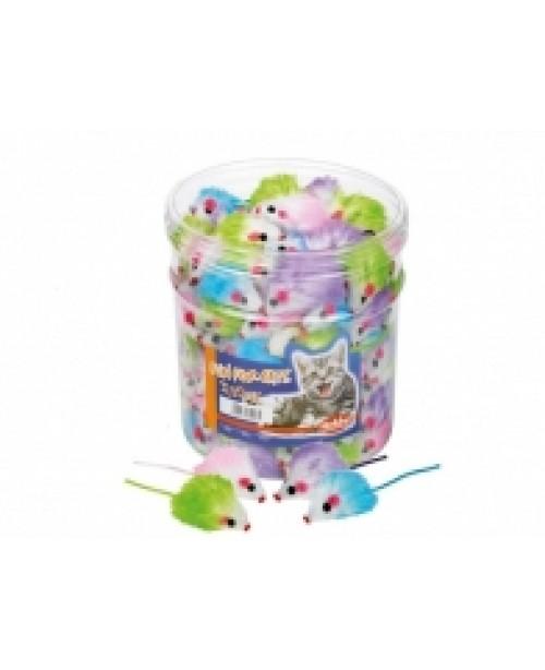 Играчка плюшена мишка цветна - 5 см - NOBBY Германия